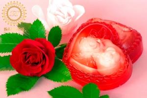 Cœur aux roses